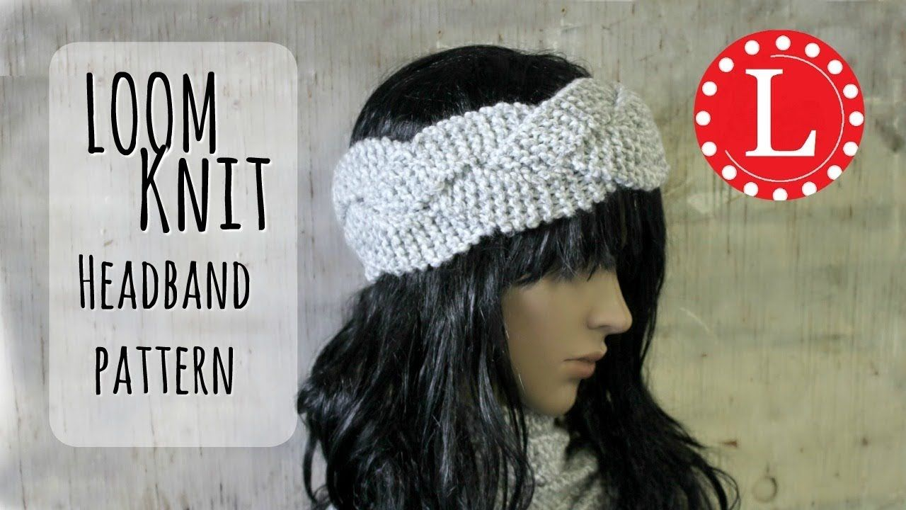 LOOM KNITTING Headband Braided Ear warmer with Round Looms Easy ...