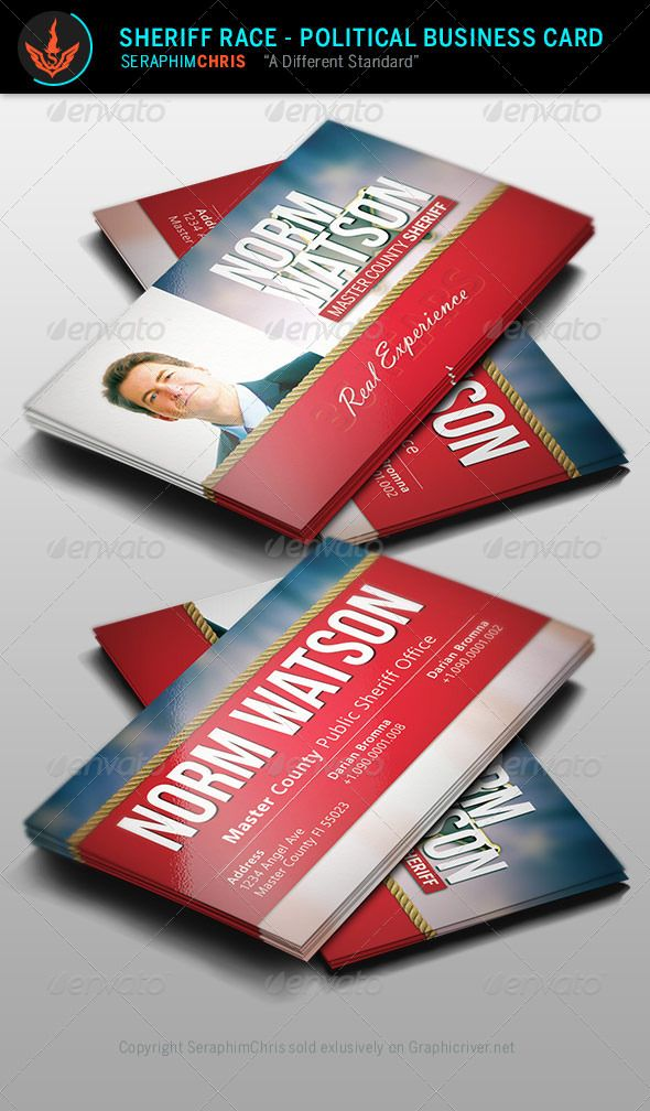 Sheriff race political business card template pinterest card sheriff race political business card template corporate business cards colourmoves