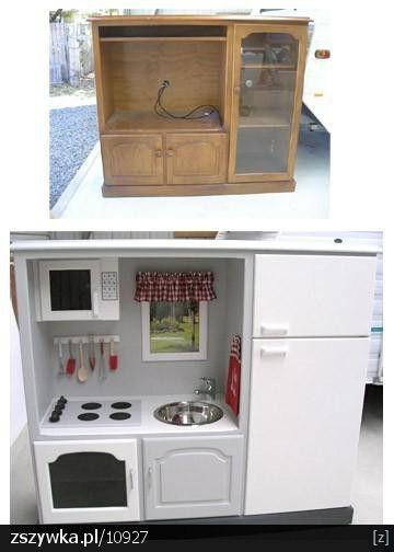 Kuchnia Dla Dziecka Hand Made Szukaj W Google Diy Play Kitchen Kids Kitchen Play Kitchen