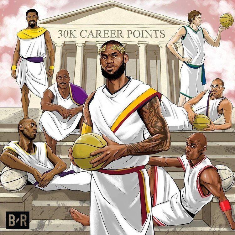 The 30k Points Club In 2020 Nba Basketball Art Nba Lebron James Basketball Players Nba