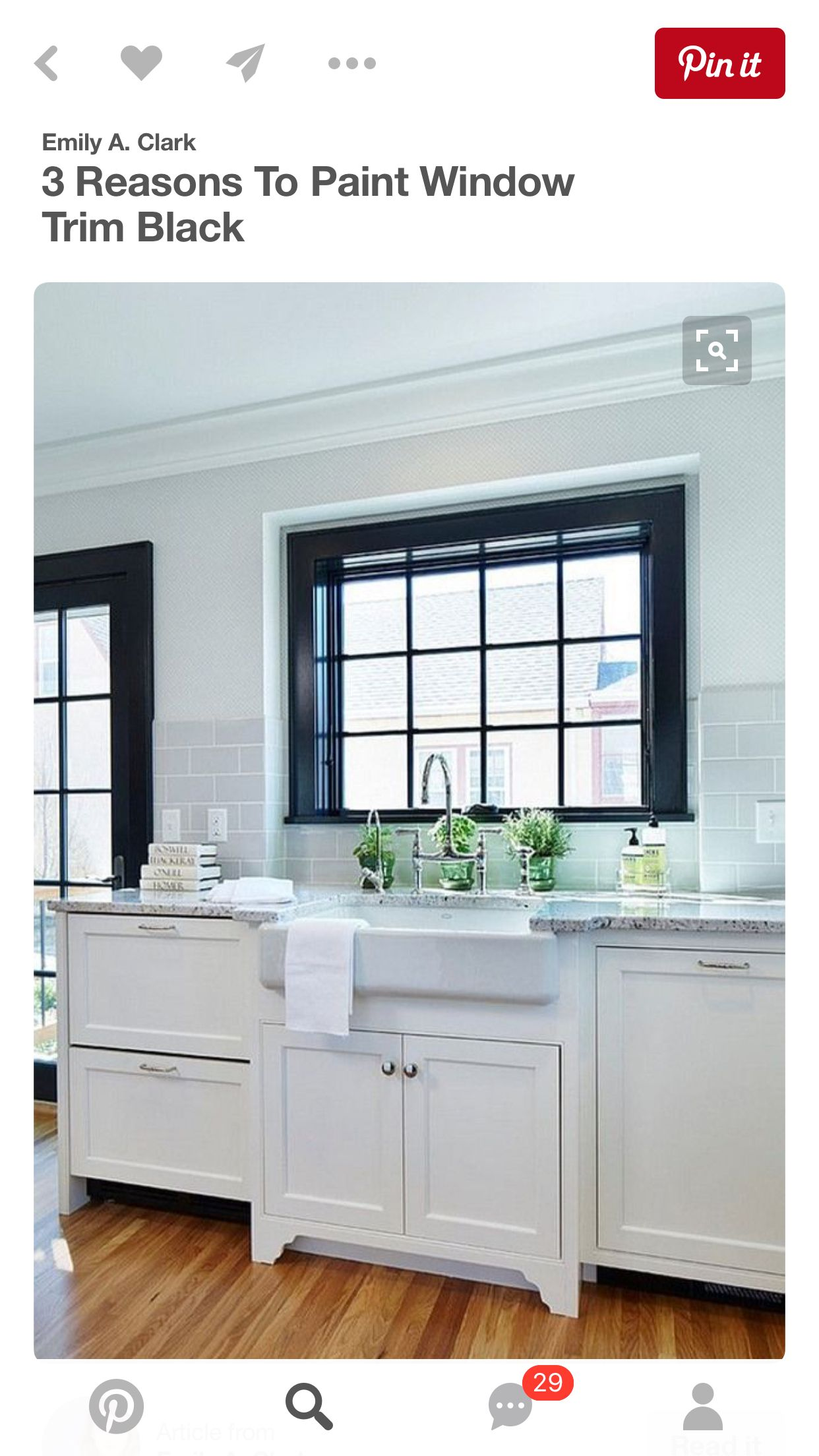 Black window trim and white walls! | Give My Home Character | Pinterest