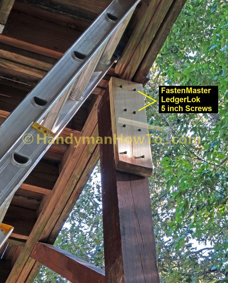Deck Repair - 2x6 Sister Block Joist Support | Deck ideas | Deck