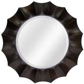 Lowes Wall Mirrors allen + roth 29.875-in x 29.875-in oil rubbed bronze beveled round
