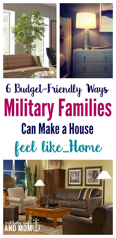 6 budget friendly ways military families can make a house feel like