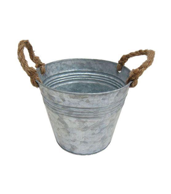 Floral Inspirations Small Metal Bucket Rope Handles, , hi-res