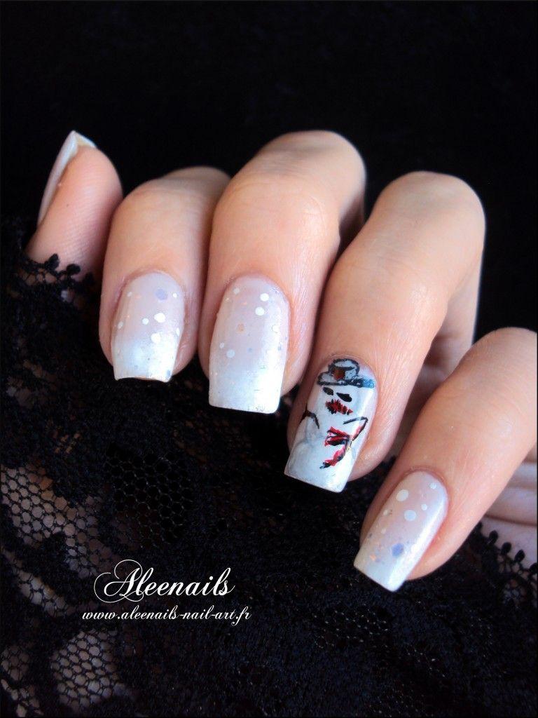 http://aleenails-nail-art.fr/bonhomme-de-neige-malefique/   Nail Art ...