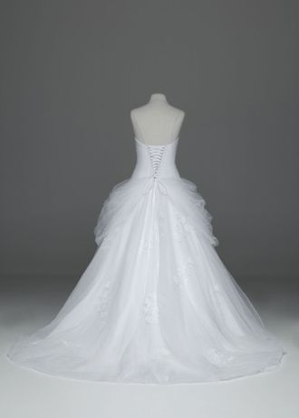 e763c50a0b8 Tulle Ball Gown with Lace-Up Back and Side Swags AI10012163 ...