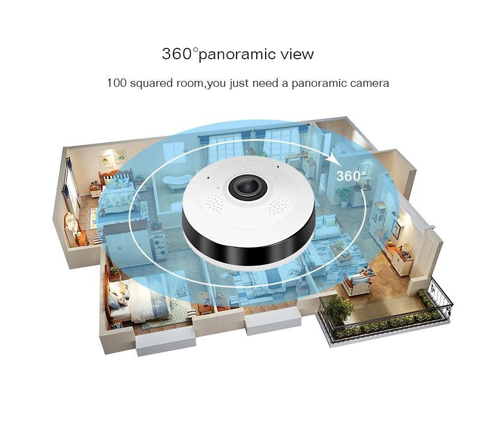 360° Smart Home Camera | Corner, Room and House