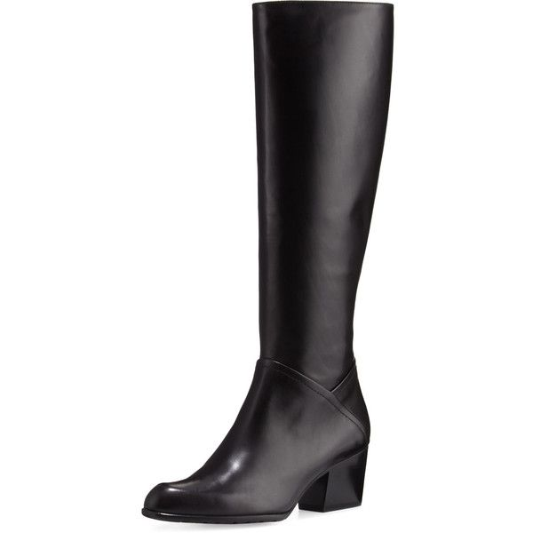4f9552f9056 Stuart Weitzman Standard Leather Riding Boot ( 419) ❤ liked on Polyvore  featuring shoes