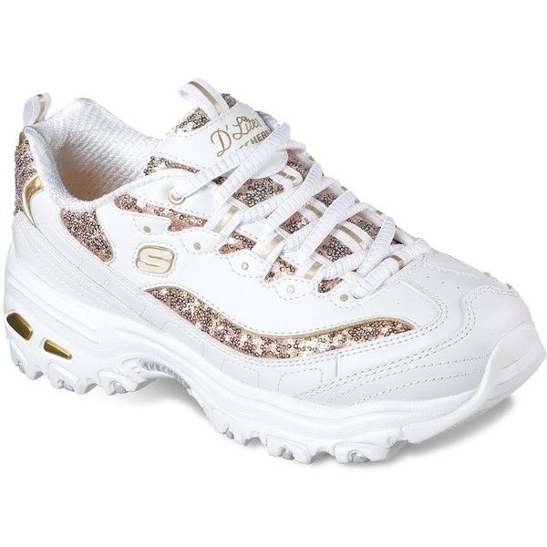 Skechers D'Lites Fame N Fortune Women's Shoes ($60) ❤ liked on Polyvore