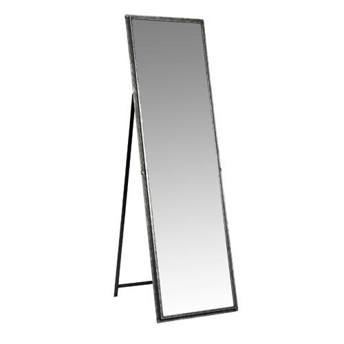 Miroir rectangulaire sur pied psych fer gris anthracite for Miroir long sur pied