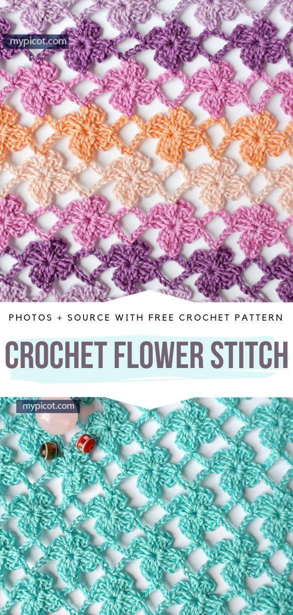 Crochet Lace Stitches Free Patterns #crochetstitchestutorial