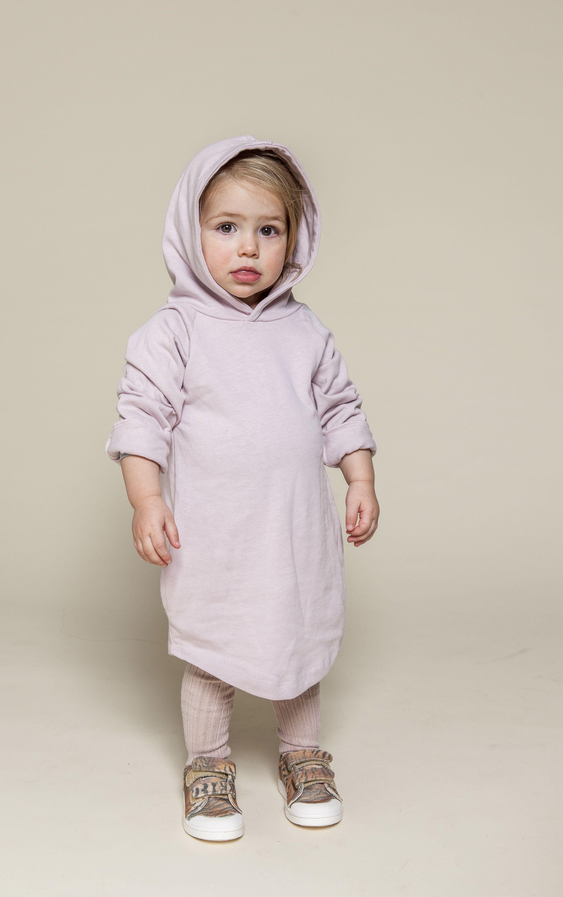 Kinderkleding Webshop.Uma In Gray Label Hooded Dress Kids Children Kinderen