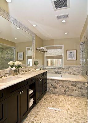 mini tile border around mirror | Bathrooms | Pinterest ...