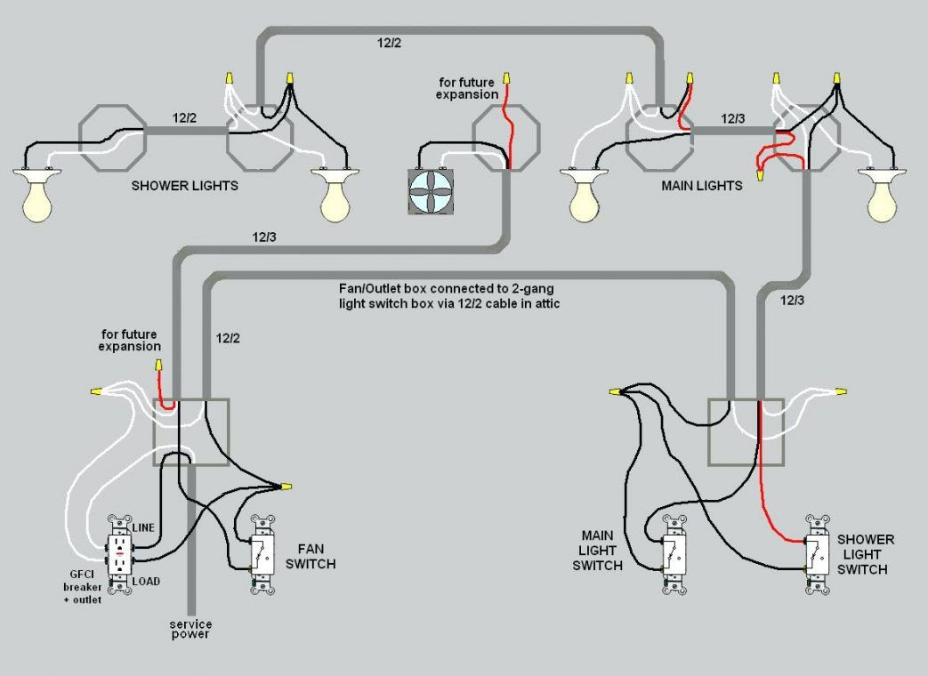 Wiring Lights And Outlets On Same Circuit Diagram Basement A Full .