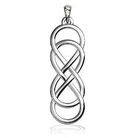 Sterling Silver Jewelry Pendants /& Charms Solid Polished Infinity Pendant