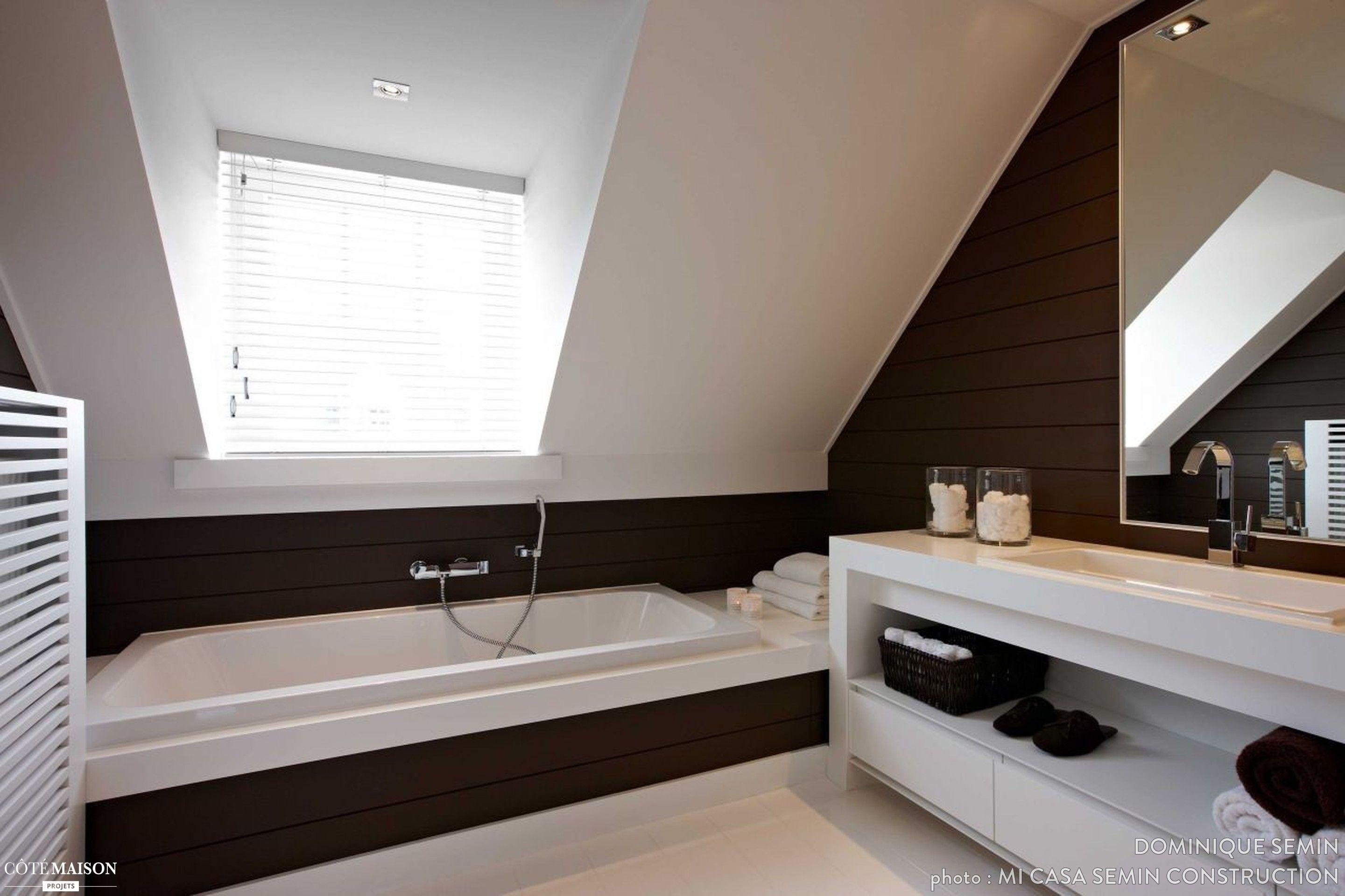 Photo Salle De Bain Sous Comble une salle de bains sous les combles moderne et design