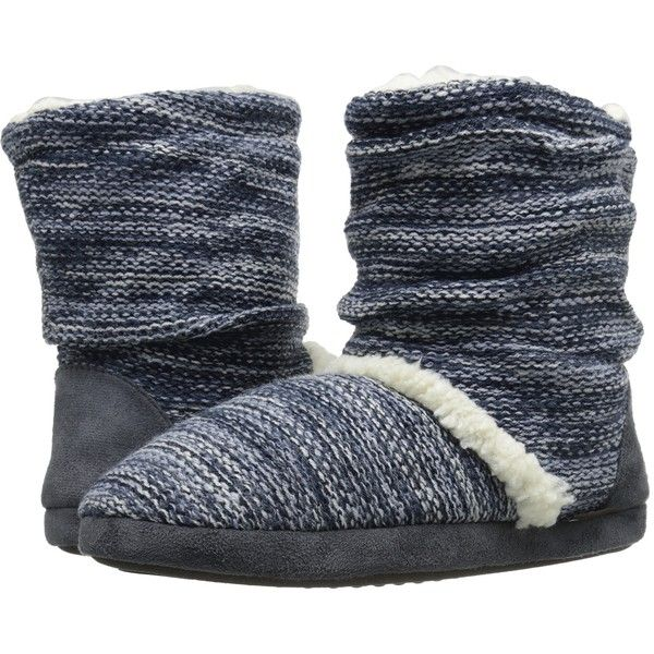 MUK LUKS Scrunch Boot (Grey) Women's Pull-on Boots ($11) ❤ liked on Polyvore featuring shoes, boots, ankle boots, grey, faux fur lined boots, bootie boots, gray ankle boots and short boots