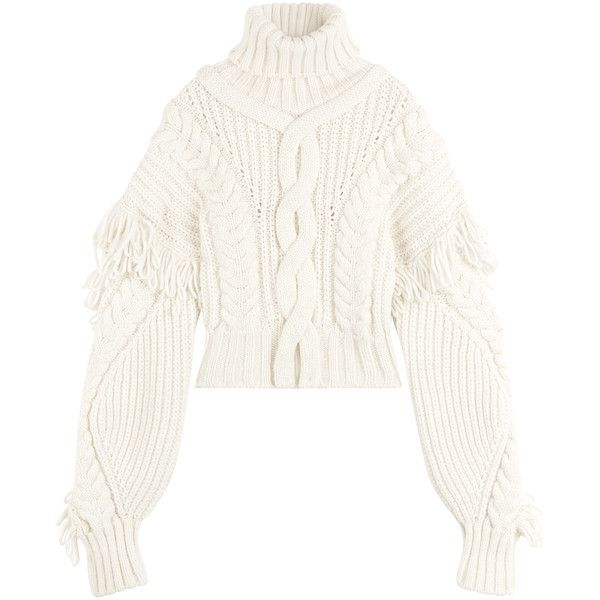 Off-White Virgin Wool Turtleneck Pullover (€945) ❤ liked on ...