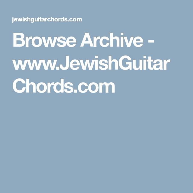 Browse Archive Jewishguitarchords Guitar Pinterest