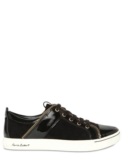 PIERRE BALMAIN - SUEDE AND PATENT SNEAKERS € 334.54 - 30% = € 234.18