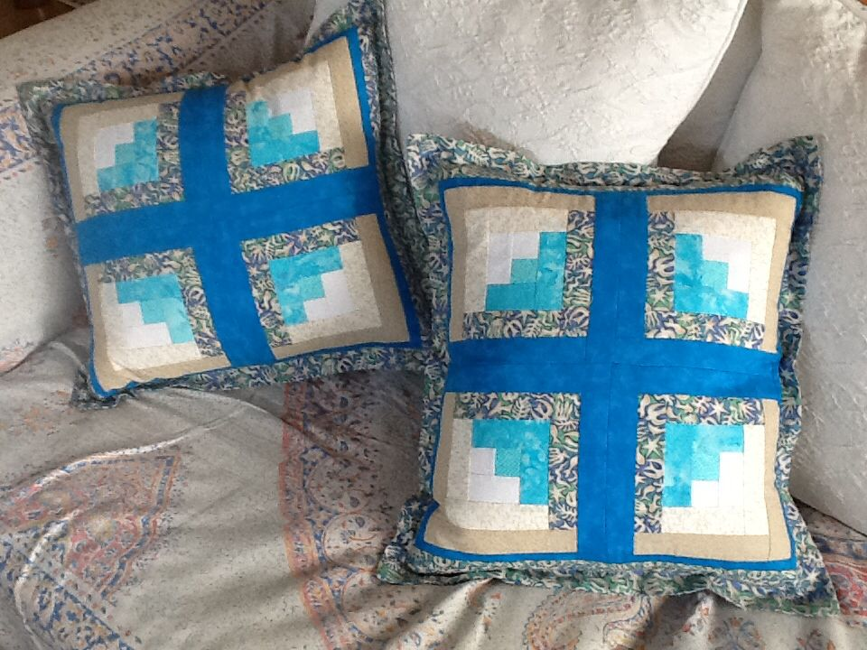 Patchwork cushions