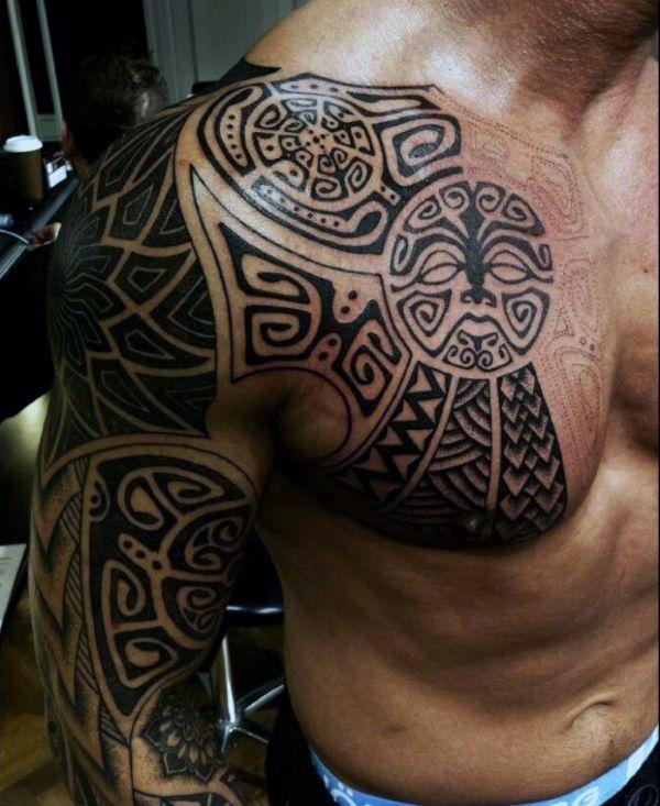 90 Tribal Sleeve Tattoos For Men Manly Arm Design Ideas Polynesian Tattoo Designs Polynesian Tattoo Maori Tattoo