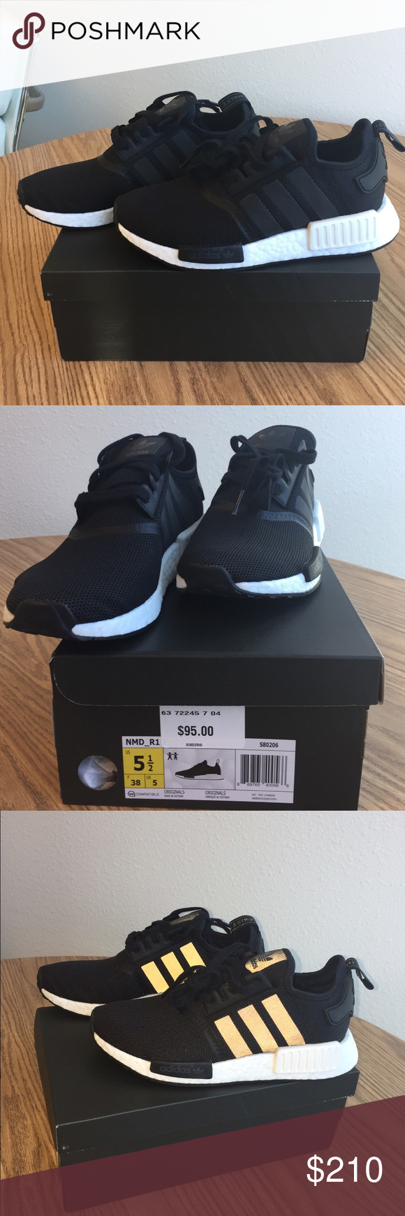 Brand new adidas NMD size 5.5y in black Brand new in box 9563d82b0
