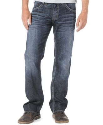 Silver Jeans Co Mens Zac Relaxed Fit Straight Leg Jeans