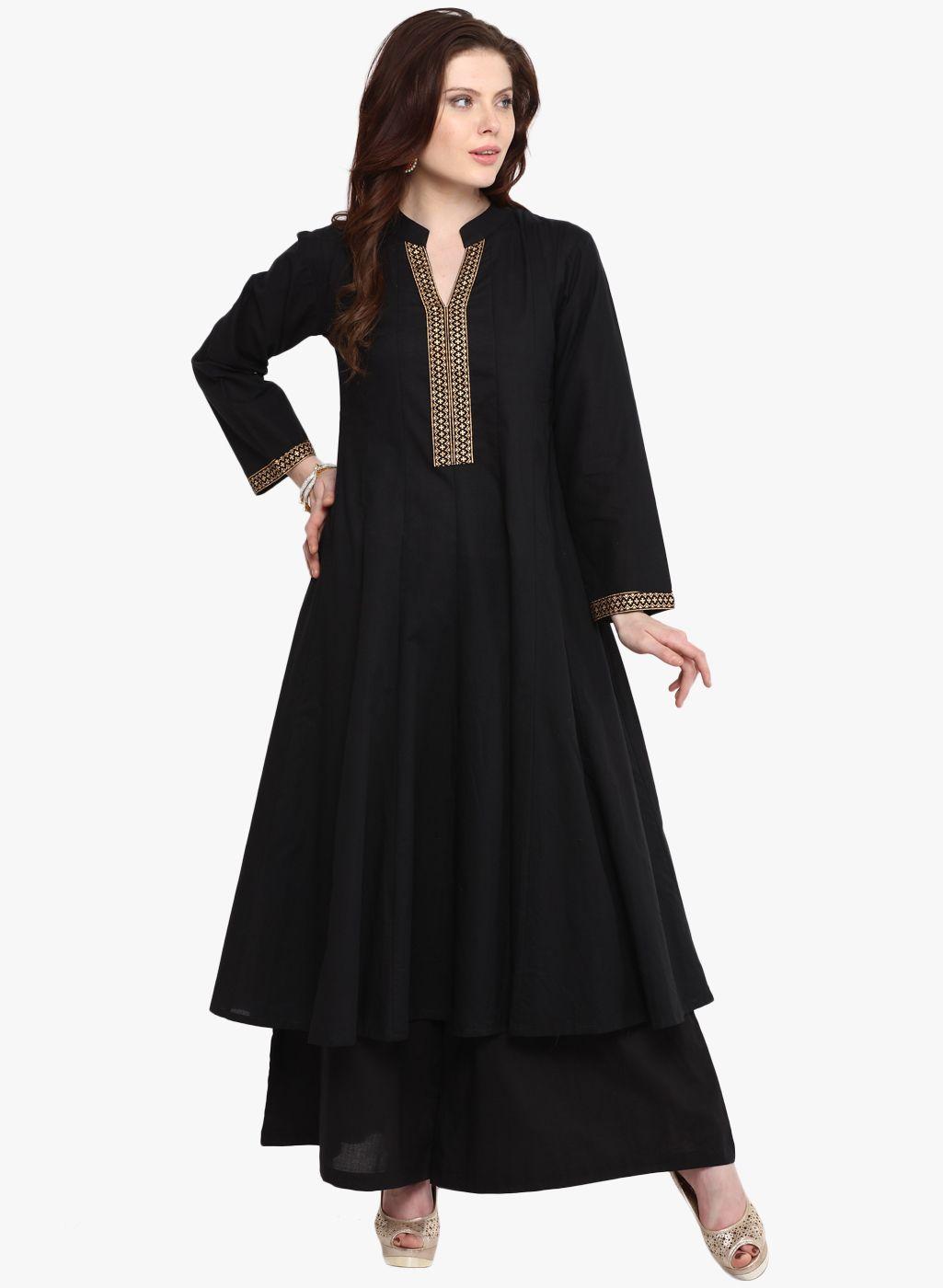 Buy Nayo Black Solid Anarkali for Women Online India, Best Prices, Reviews    NA976WA59EKMINDFAS