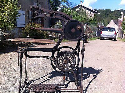 Ancienne Machine A Coudre Le Cuir En Fonte Patent Elastic Mi 19
