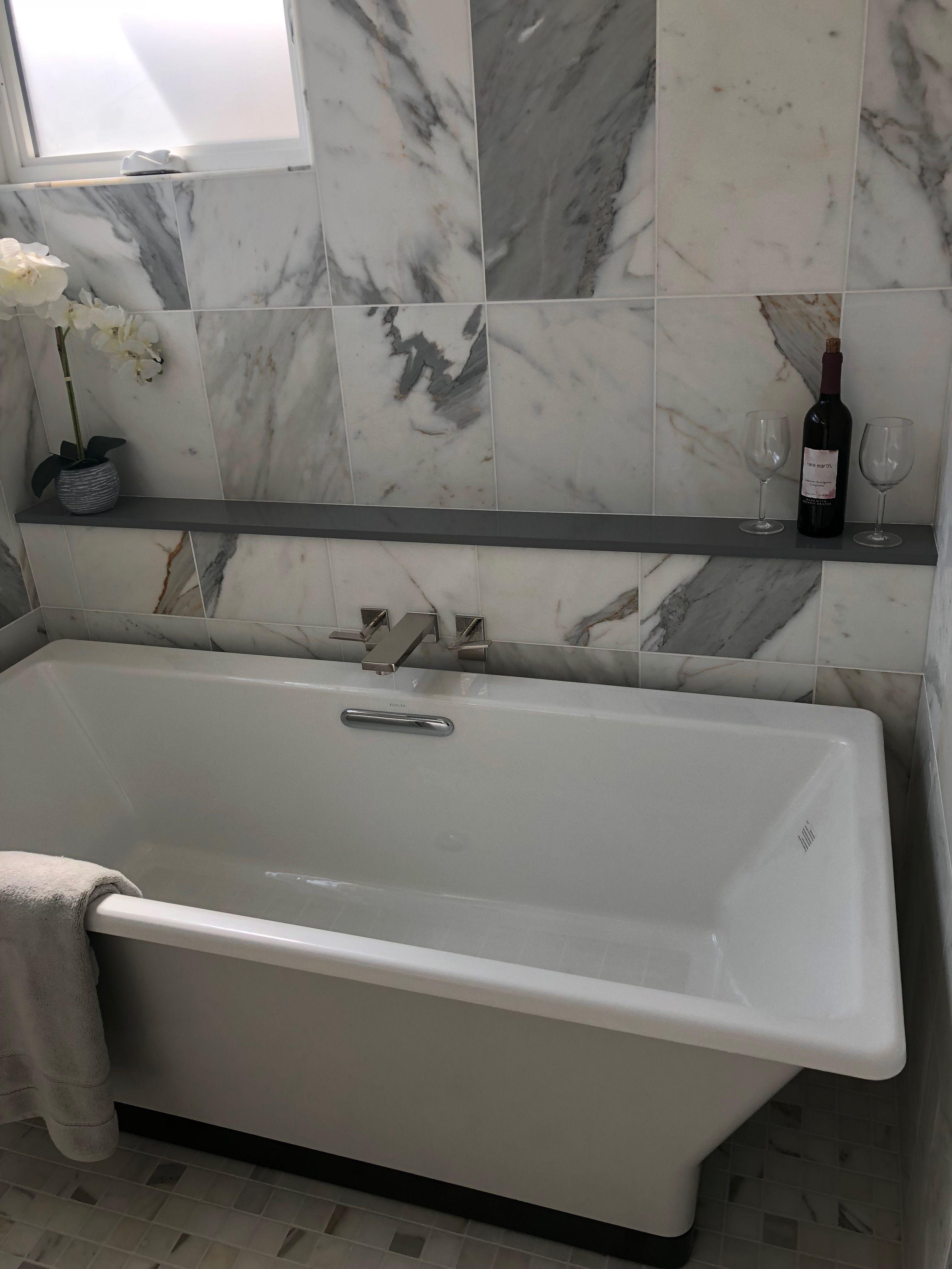 Shelf With Freestanding Tub Bathtub Remodel Diy Bathtub Master