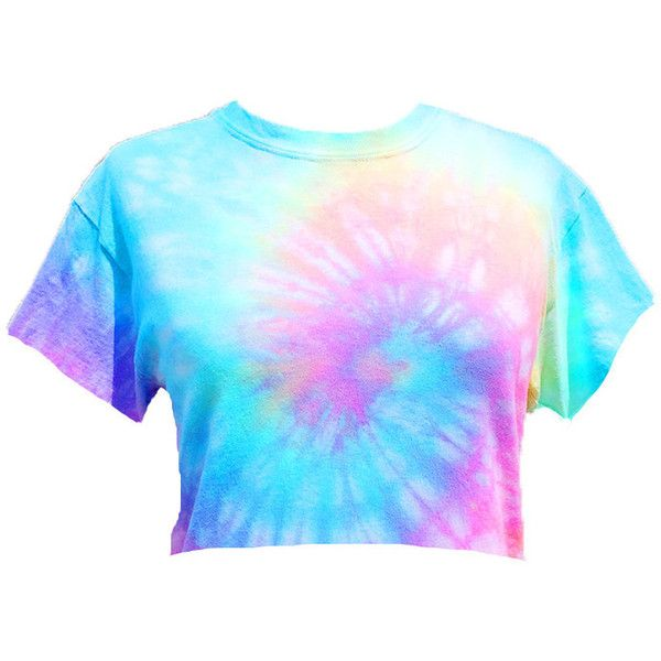 243eefe0bbb7 Tiedye cropped tshirt ($20) ❤ liked on Polyvore featuring tops, t-shirts, crop  tee, crop top, tiedye t shirts, blue tie dye t shirt and blue t shirt