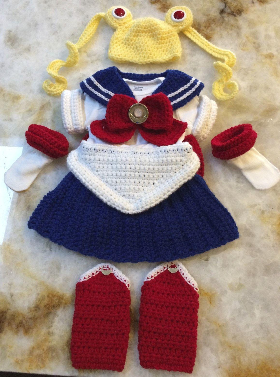 Crocheted Sailor Moon Outfit | CROCHET | Pinterest ...