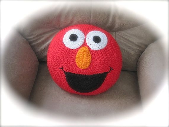 Items similar to Crochet Monster Pillow Gift for Child Gift for Baby Nursery Decor Boy Gift Stuffed animal on Etsy