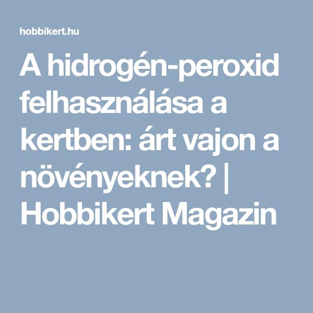 Hidrogén felhasználása