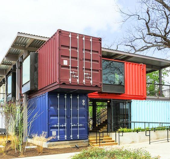 32 fachada de casa moderna contenedores fachadas de - Contenedores maritimos casas ...