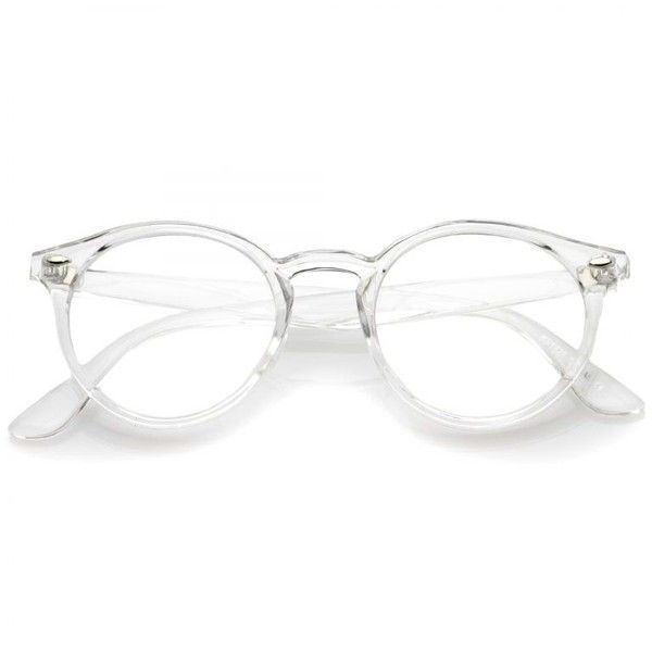 64f12000fe Modern Round Dapper Transparent Clear Lens Glasses C027 ( 15) ❤ liked on Polyvore  featuring accessories