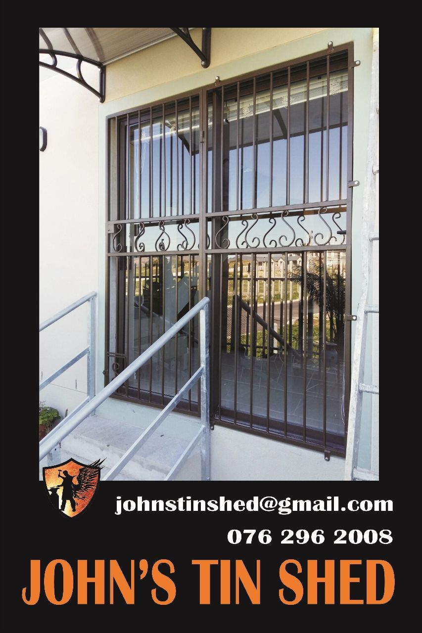 Decorative Security Gate For Sliding Door With Doggie Trap Burglar