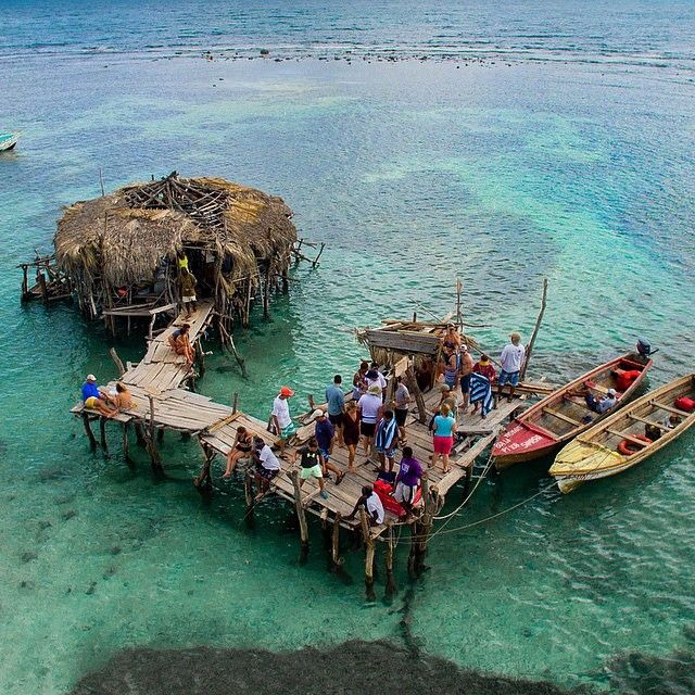 Aerial  Floyd's Pelican Bar - 15minutes (about quarter mile) out at sea #StElizabeth via @experienceabove #jamaica