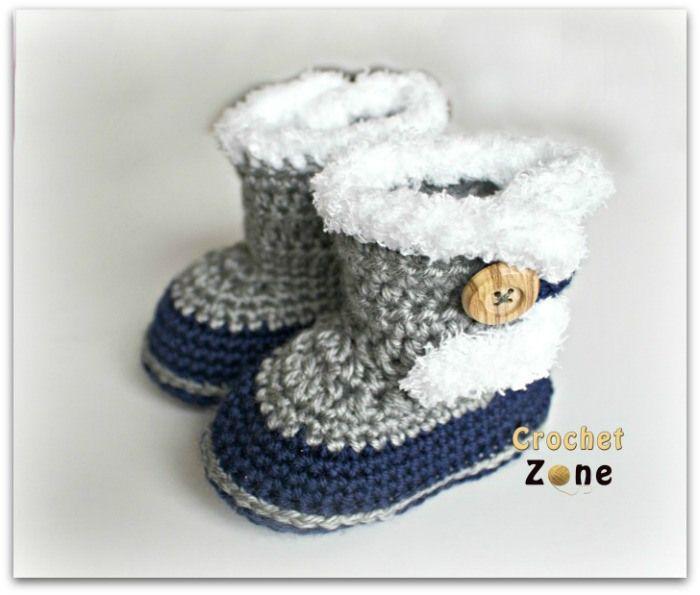 Fuzzy Booties by Crochet Zone -Free Crochet Pattern ~k8~ | Crochet ...