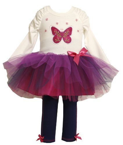 Bonnie Jean Girls 2-6X Butterfly Appliqued Tutu Legging Set $25.99 (save $26.01) + Free Shipping