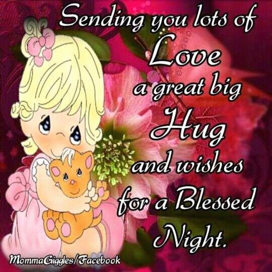 Pin by Judiann on Good Night..♡ | Good night hug, Good night my friend, Good  night prayer