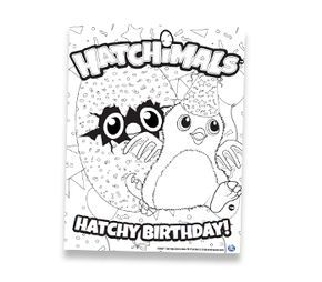 Hatchimals Coloring Sheet Party Ideas Birthday Birthday Party