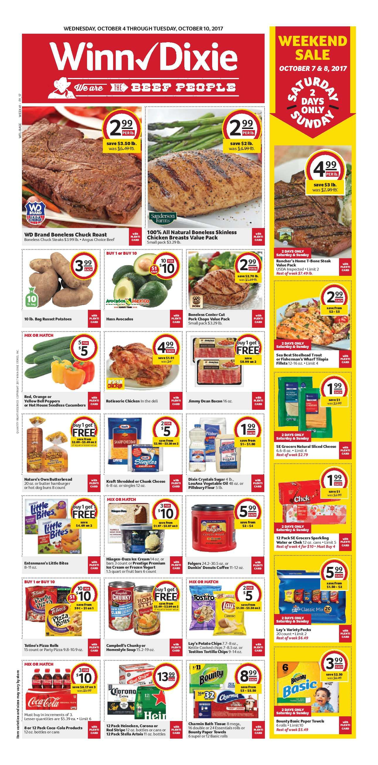 Winn Dixie Weekly Ad October 4 10 2017 httpwwwolcatalogcom
