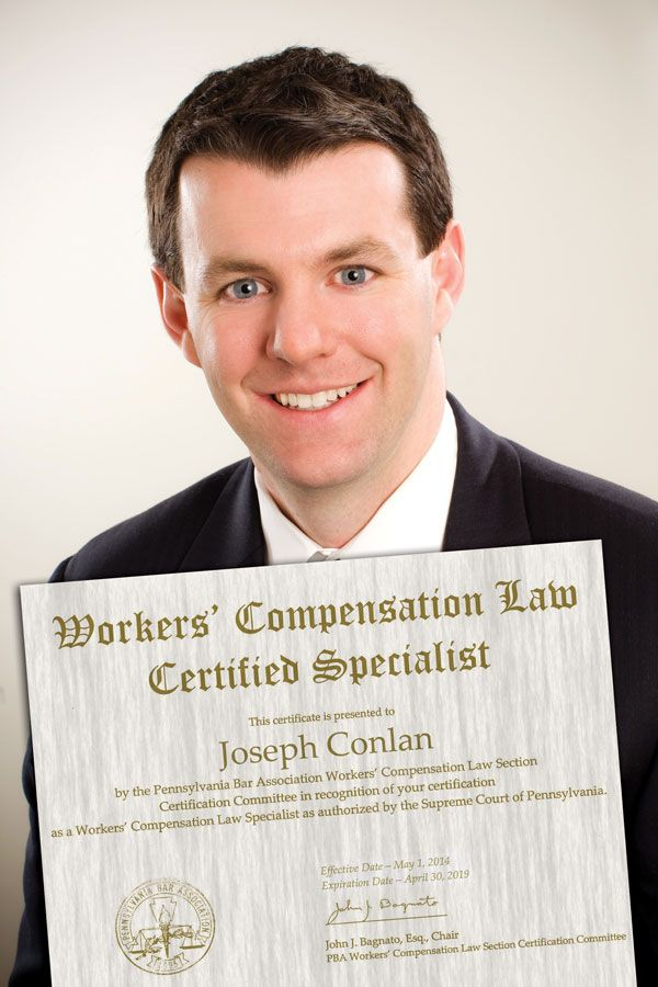 Joseph Conlan Is A Certified Specialist In The Practice Of Workers