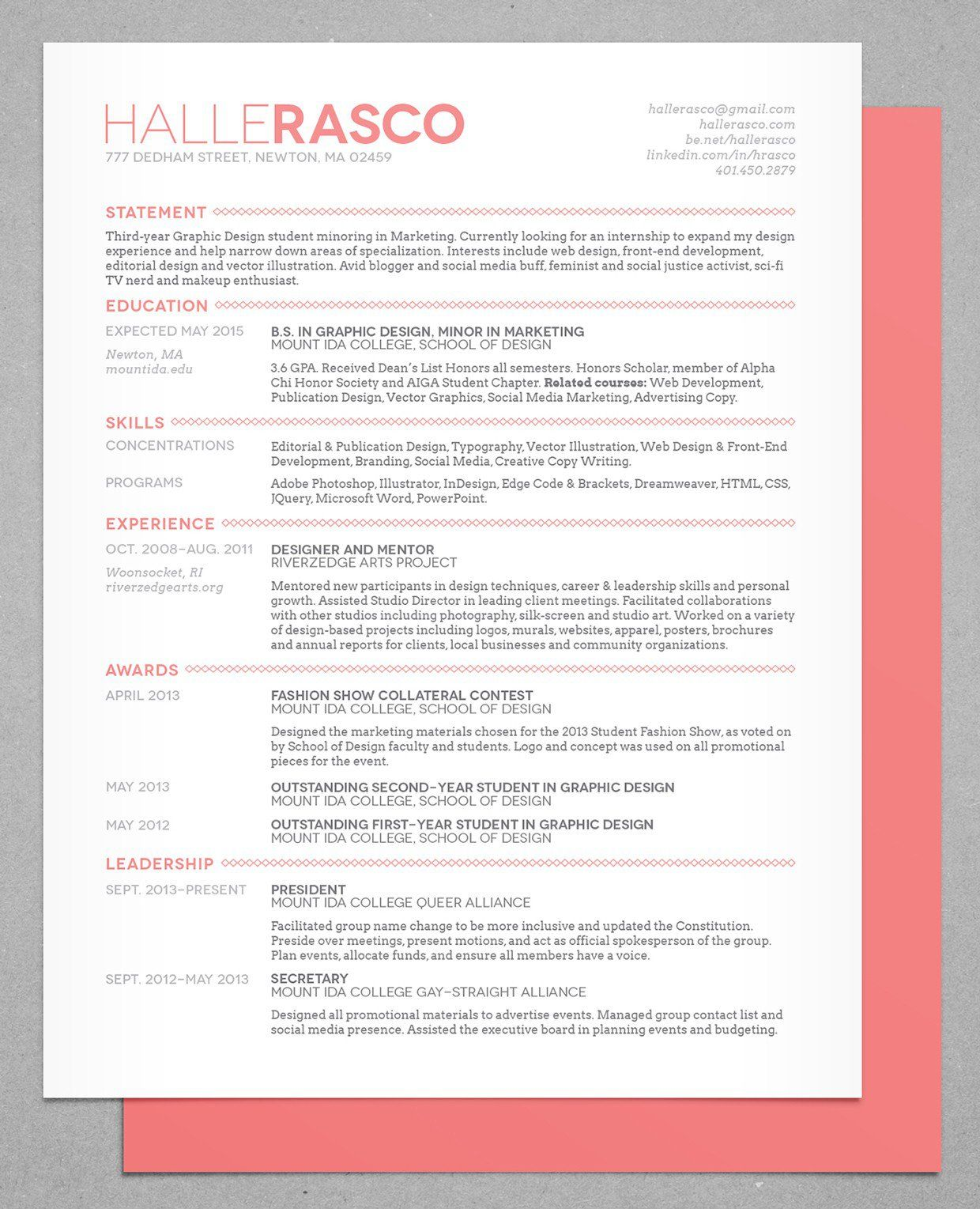 Resume Design Creative, Resume