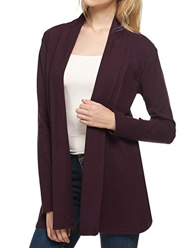 Halif Womens Solid Long Sleeve Waterfall Draped Open Front Shawl ...