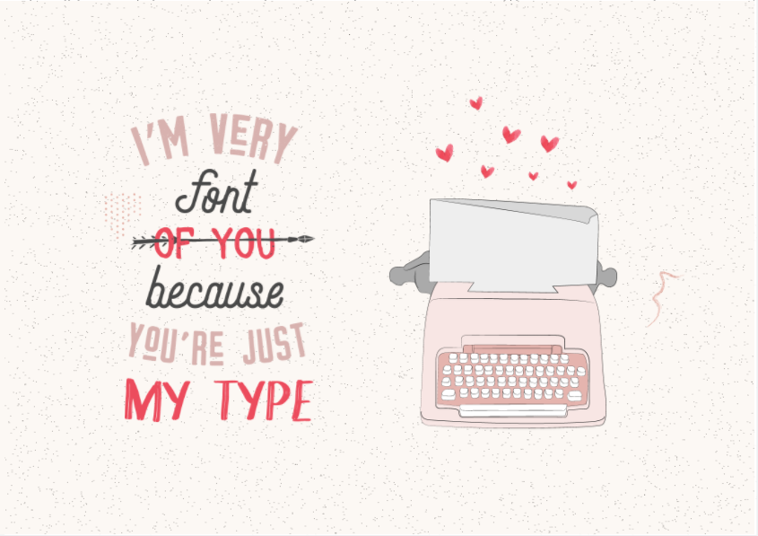 Flipsnack Freebie I'm very font of you because you're