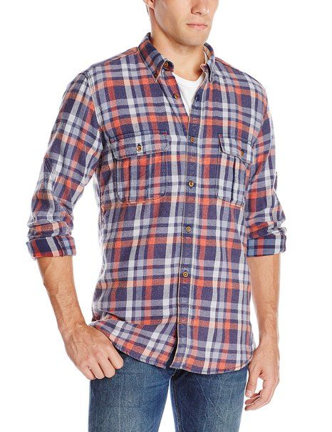 French Connection Men's Bleached Checks Woven, Ribbon Red, Small